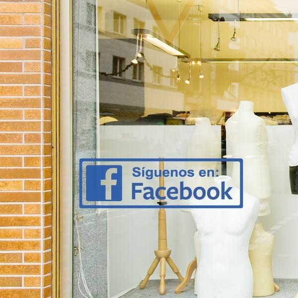 Adhesivo síguenos en facebook