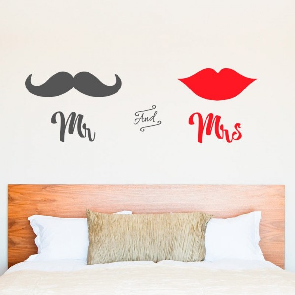Vinilo decorativo mr and mrs