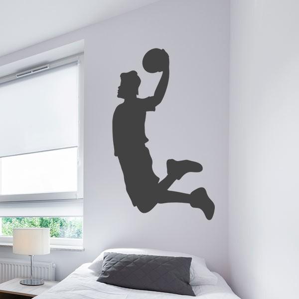 Adhesivo jugando baloncesto
