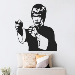 Adhesivo de pared Bruce Lee