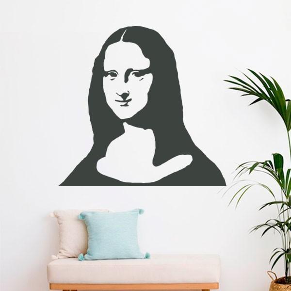 Vinilo silueta de Mona Lisa