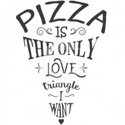 Pegatina pizza love triangle