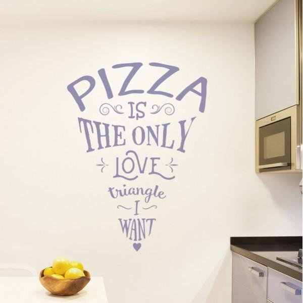 Pegatina pizza love triangle