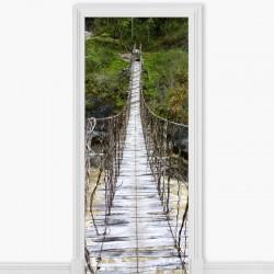 Mural puerta de puente madera