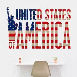 Vinilo de pared America