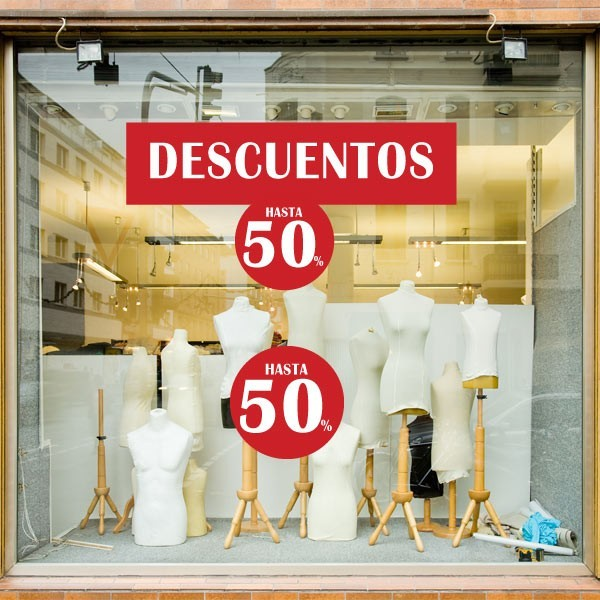 Vinilos escaparates pack hasta 50