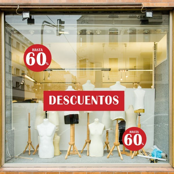 Vinilos escaparates pack hasta 60