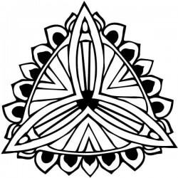 Adhesivo mandala flor
