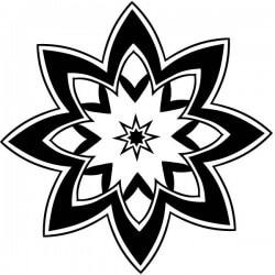 Mandala estrella de ocho puntas