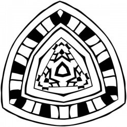 Adhesivo mandala tribal