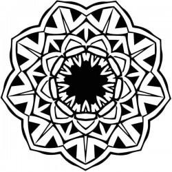 Vinilo mandala flor de loto