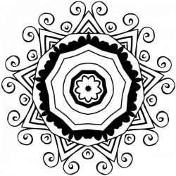 Vinilo mandala ornamental