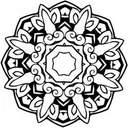 Adhesivo mandala octogonal