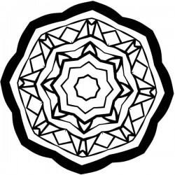 Adhesivo estrella octogonal