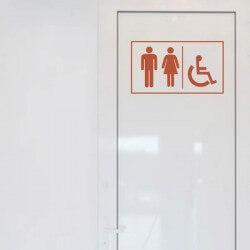 Pegatina para puerta de WC