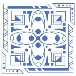 Adhesivo cuadrado ornamental