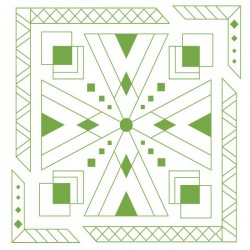Vinilo patrones geométricos