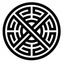 Pegatina círculo tribal