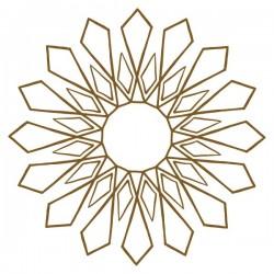 Vinilo flor geométrica