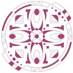 Vinilo círculo ornamental