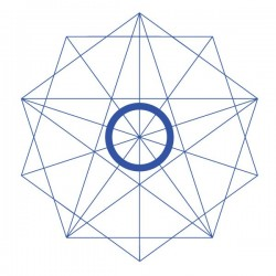 Vinilo estrella geométrica