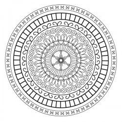 Adhesivo mandala hindú