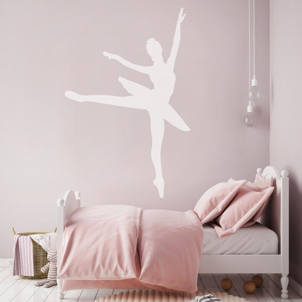 Adhesivo de pared bailarina