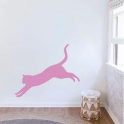 Adhesivo de pared gato