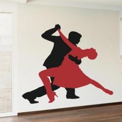 Adhesivo siluetas tango