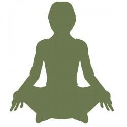 Vinilo silueta yoga