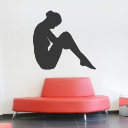 Vinilo mujer sentada