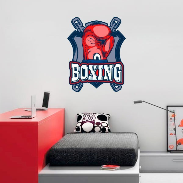 Pegatina de pared boxing