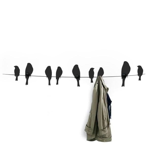 Vinilo perchero de pájaros