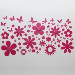 Perchero en vinilo de flores
