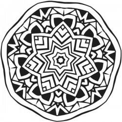 Mandala en vinilo de estrella