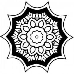 Mandala patrón floral