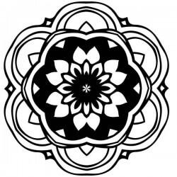 Mandala flor dalia