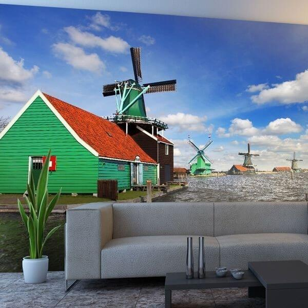 Mural molino de viento