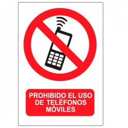 Vinilo prohibido teléfonos móviles