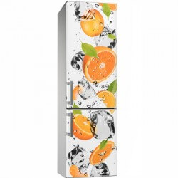 Vinilo de cocina naranjas