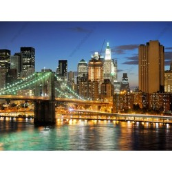 Mural luces de New York