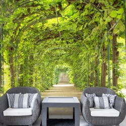 Fotomural túnel de hojas