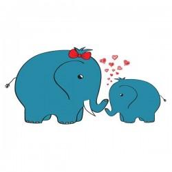 Vinilo infantil de elefantes