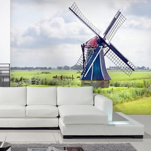 Fotomural molino Países Bajos