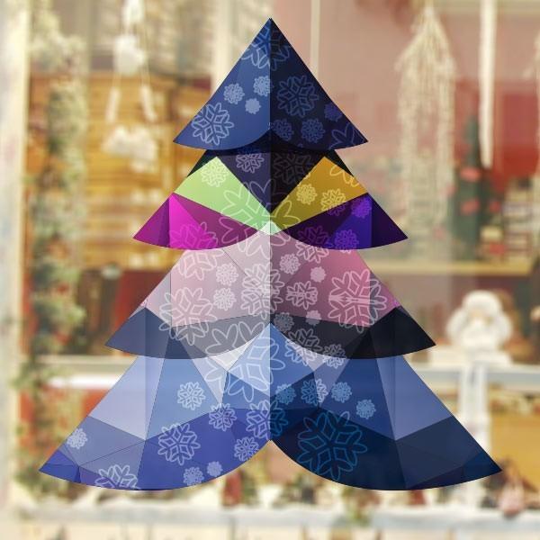 Vinilo árbol poligonal