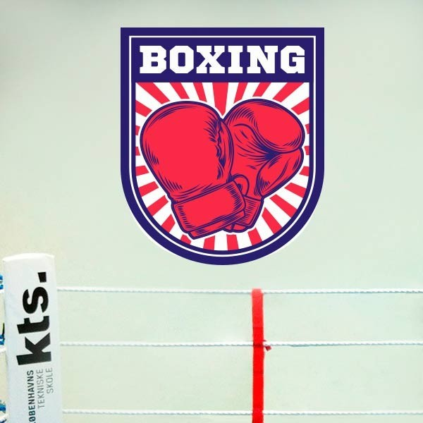 Adhesivo de pared boxing