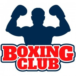 Adhesivo boxing club