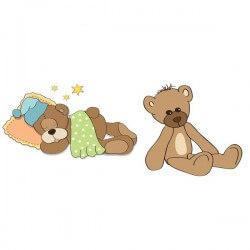 Vinilo bebé dos osos