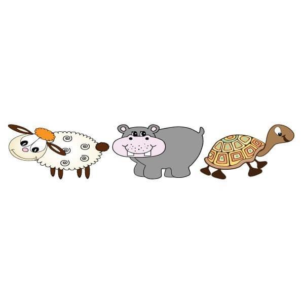 Vinilo bebé de varios animales