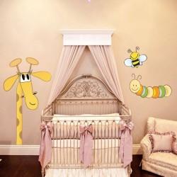 Vinilo bebé jirafa y sus...
